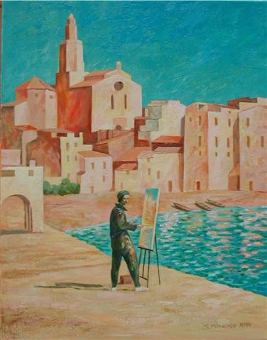 Salvador Dalí, at the Age of 20, Painting Port Alguer in 1924